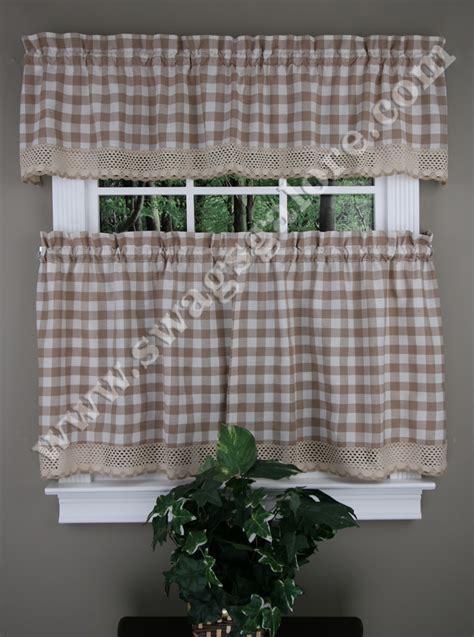 Buffalo Check Kitchen Tiers, Valances, & Curtain Panels