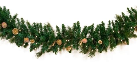 decorative garland harvest gold deluxe prelit christmas