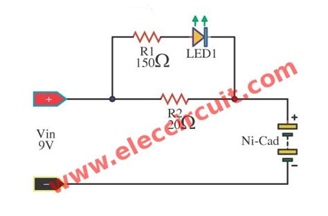 simple charger circuit simple nicad battery charger circuit by part
