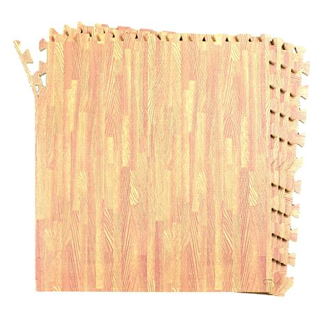 wood pattern eva foam 16 sqft wood grain floor mat oak playmat 4 tile