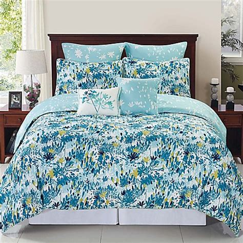 devon reversible comforter set in blue teal bed bath