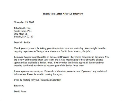 Thank You Note For Before Awesome Collection Of Sle Thank You Letter Before About Summary Follow Up Letter