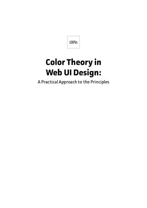 color theory and using text to design web pages color theory in web ui design