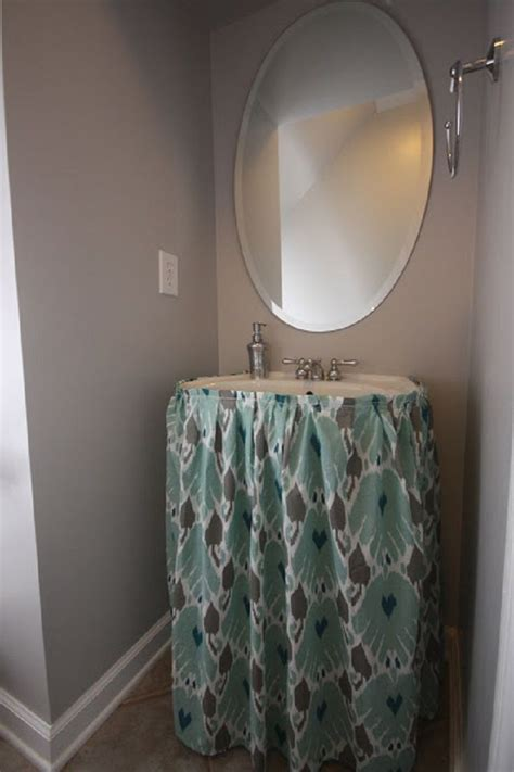 pedestal sink curtain 17 best ideas about bathroom sink skirt on pinterest