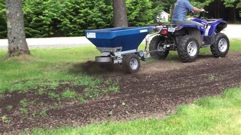 compost spreader ecolawn applicator eco 50 tow compost spreader
