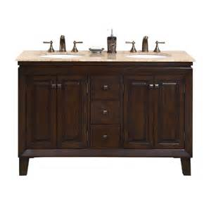 54 bathroom vanity sink shop silkroad exclusive walnut undermount