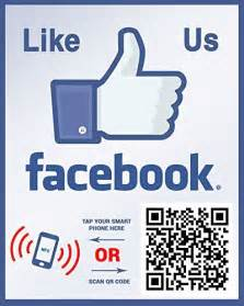 like us on sticker template like us on nfc tag and qr code two sided