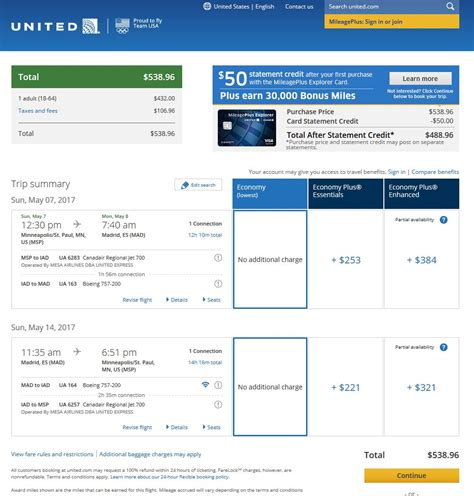united airlines booking 541 559 minneapolis to madrid spain into 2017 r t