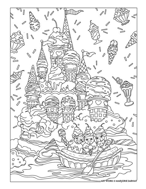 ice cream coloring pages for adults pered pets marjorie sarnat design illustration