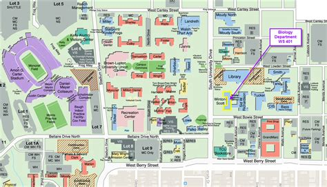 texas christian university map maps tcu biology department