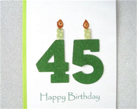 45 Birthday Card Popular Items For 45th Birthday On Etsy