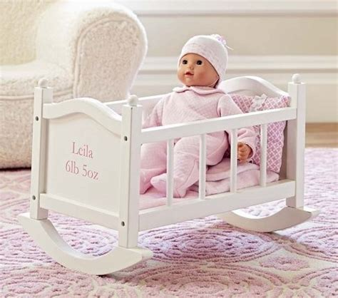 Dolls Cribs And Cradles by Crib For Haylie Baby Doll Cradle Pottery Barn