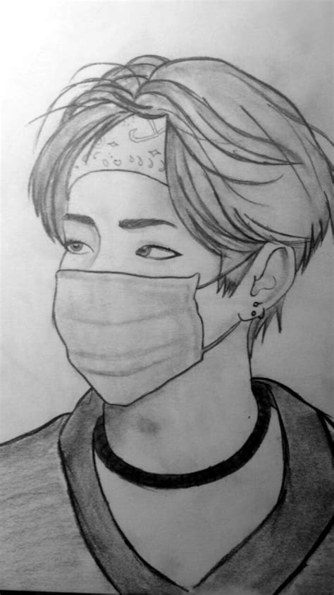 V Drawing Jimin by Bts Bangtanboys Bts V Kimtaehyung Drawing