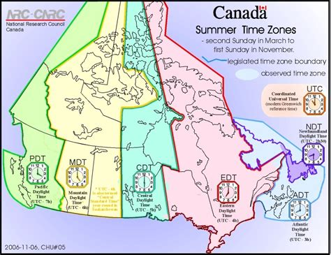 canadian map time zones charlottetown halifax st s fredericton c