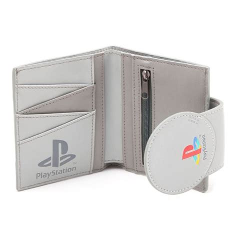 playstation one console sony playstation one console bi fold wallet grey for only