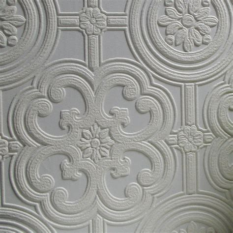 embossed paintable wallpaper brewster home fashions anaglypta paintable egon floral