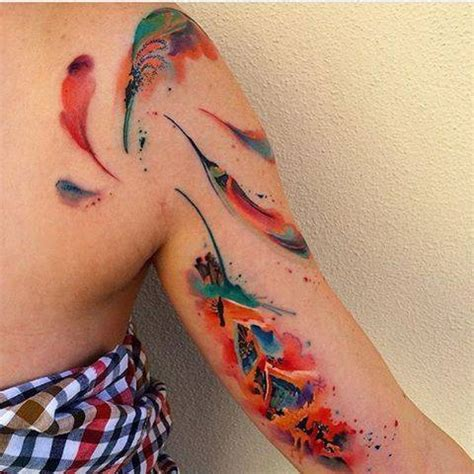 watercolor tattoo after 5 years my client virginia says about after 5 years