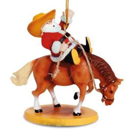 bucking bull ornaments western santa broncing rodeo ornament walmart