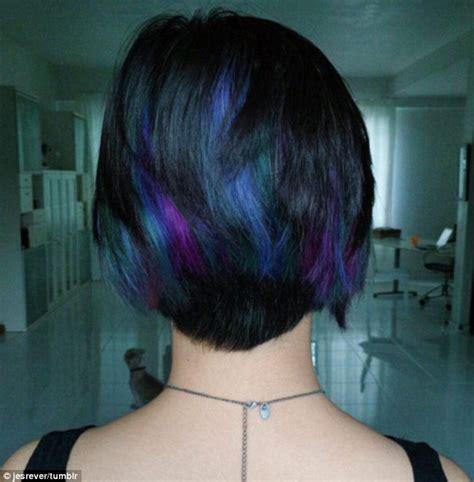 hair o the dog black tie party rainbow hair raw hair
