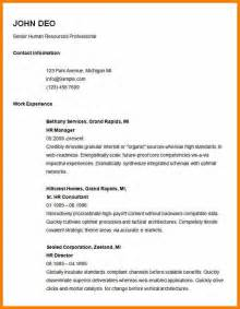 Simple Professional Resume Template by 5 Easy Resume Exles Bid Template