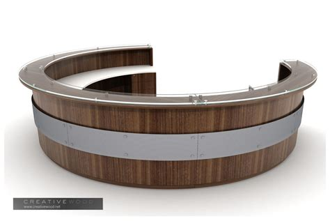 rounded reception desk reception
