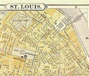 united states map st louis vintage st louis missouri map united states 1898