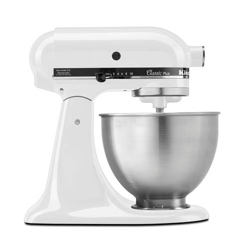 amazon kitchenaid amazon com kitchenaid ksm75wh 4 5 qt classic plus stand