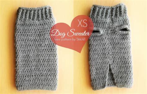 crochet pattern for xxl dog sweater xs dog sweater