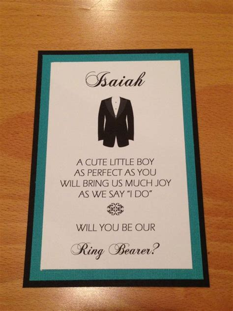 ring bearer invitation poem will you be our ring bearer card with envelope the box