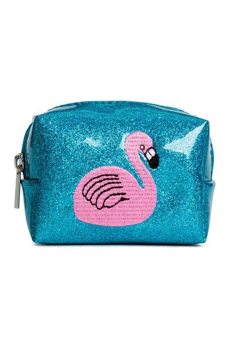 mini pouch bright blue flamingo sale h m us