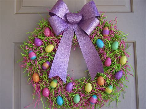 easter wreath ideas the busy broad easter egg wreath