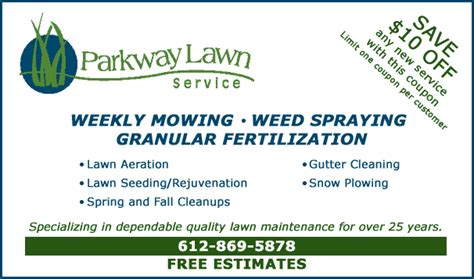 deals offers parkway lawn