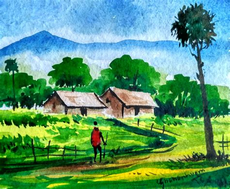 Landscape Paintings How To Easy Watercolor Paintings Of Landscapes How To Paint
