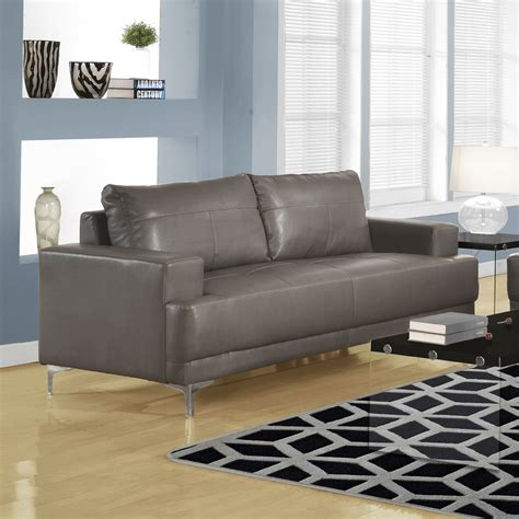 Modern Gray Leather Sofa Modern Leather Sofa In Grey Modern Living Room Seating