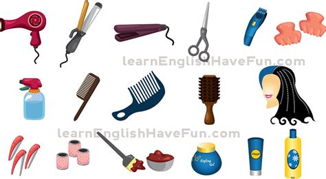 Hairstyle Tools Name by Hair Care Vocabulary