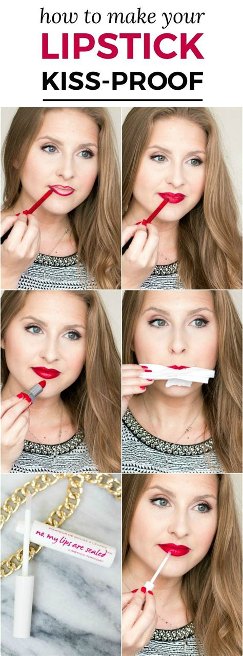 Tutorial Lipstick Kiss Proof | kiss proof lips how to make your lipstick last longer
