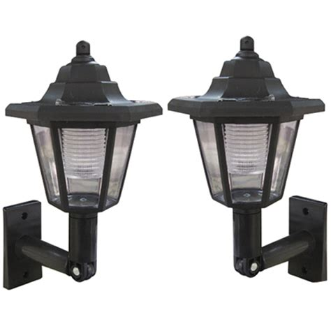 New 2 X Black Elegant Wall Mount Outdoor Solar Power Solar Outdoor Lighting Wall Mount