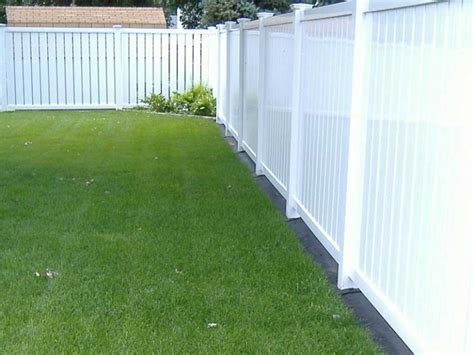 White pvc fence panels fence gallery