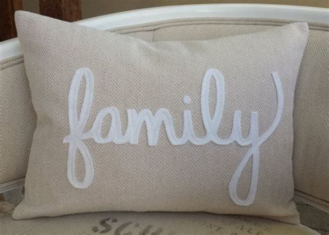 Family Pillows by Chevron Pillow Choice Of White Felt Wording By