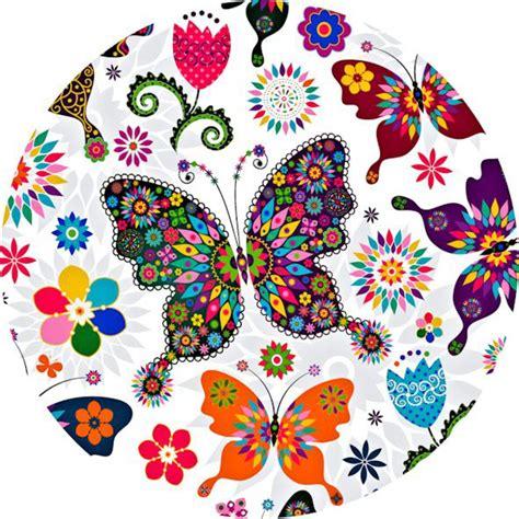 fiori e farfalle disegni cialdeper torta con disegni di farfalle