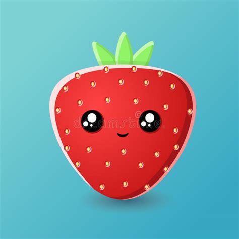 imagenes de fresas kawaii cartoon strawberry kawaii stock vector image of nutrition