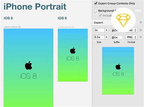 ios 8 launch screen template sketch freebie download