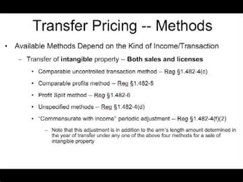 section 482 transfer pricing t516 us intl tax outbound sec 5 03 transfer pricing sec