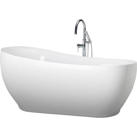 all in one bathtub renwil liberty 71 in acrylic freestanding flatbottom non