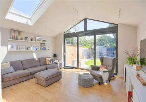 Living Room Extensions Uk Extension To 1930 S Semi Contemporary Living Room