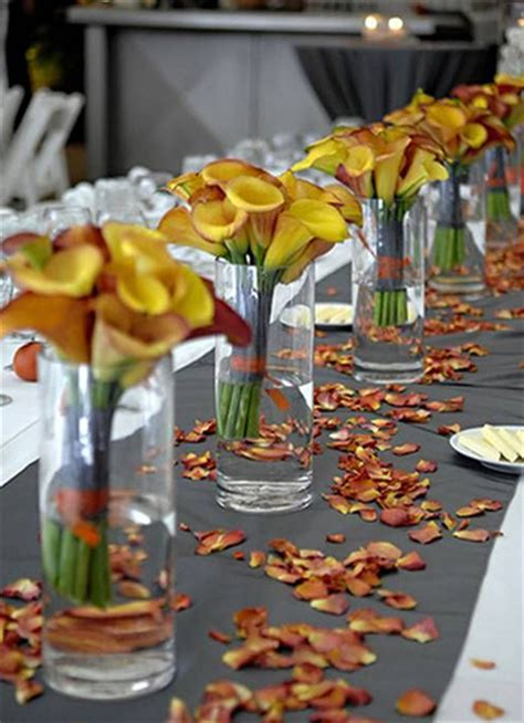 fall wedding table decorations top 8 fall wedding decoration ideas