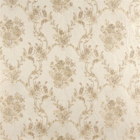 vintage drapery fabric beige and white antique french vintage large floral