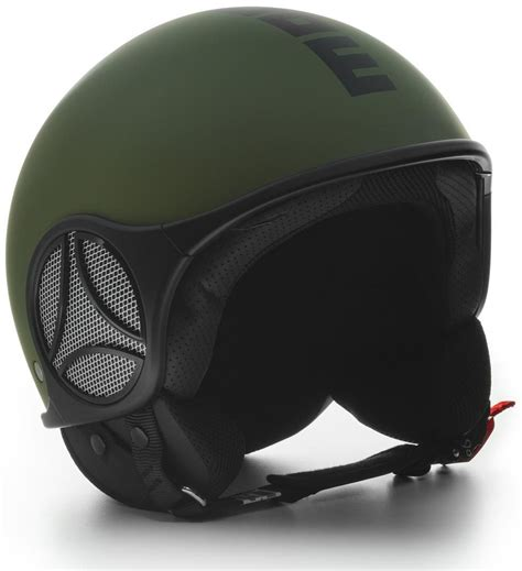 momo design jet helmet momo mini military green logo black motorcycle helmets