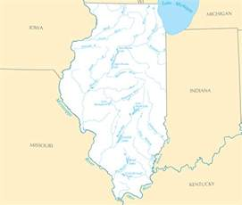 Map Of Illinois Rivers by Lakes In Illinois Map