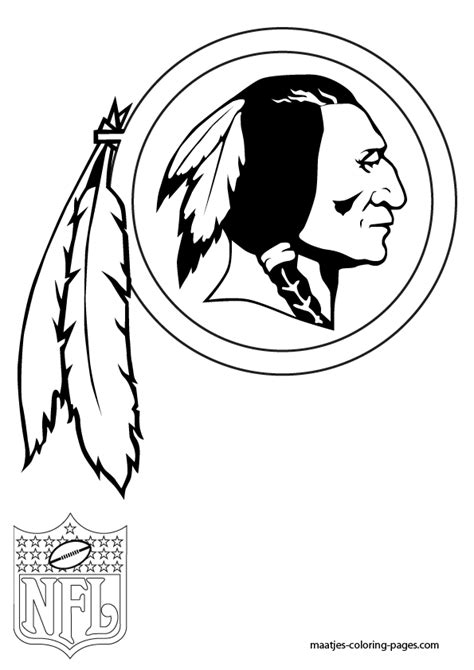 redskins coloring page nfl pinterest stenciling